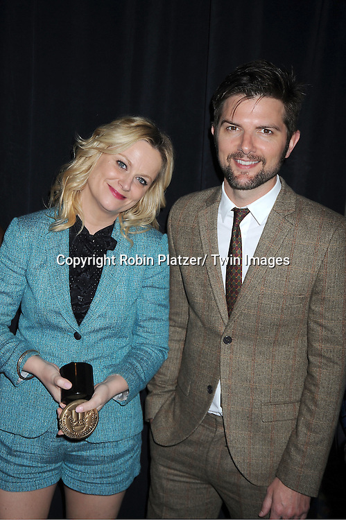Amy Poehler and Adam Scott attends the 71st Annual Peabody Awards at the Waldorf Astoria Hotel in New York City on May 21, 2012.