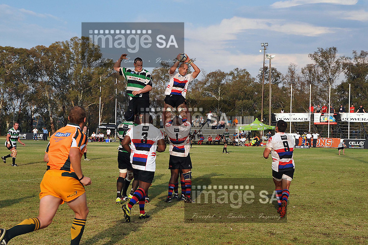 ROODEPOORT, SOUTH AFRICA - SATURDAY MARCH 2 2013, Line out during ...
