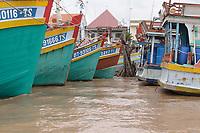 Mekong River<br /> , Vietnam - 2007 File Photo -<br /> <br /> <br /> Mekong Delta  fishing boats.<br /> <br /> <br /> <br /> photo : James Wong-  Images Distribution