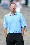 27 September 2009: UNC goalkeeping coach Chris Ducar. The University of North Carolina Tar Heels defeated the Wake Forest University Demon Deacons 4-0 at Fetzer Field in Chapel Hill, North Carolina in an NCAA Division I Women's college soccer game.