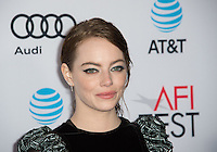 LOS ANGELES, CA. November 15, 2016: Actress Emma Stone at the gala screening for her movie &quot;La La Land&quot;, part of the AFI FEST 2016, at the TCL Chinese Theatre, Hollywood.<br /> Picture: Paul Smith/Featureflash/SilverHub 0208 004 5359/ 07711 972644 Editors@silverhubmedia.com