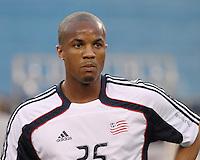 New England Revolution defender Darrius Barnes (25).  The New England Revolution drew FC Dallas 1-1, at Gillette Stadium on May 1, 2010