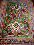 ATP-108 RARE VINTAGE SILK QUM PERSIAN PRAYER RUG