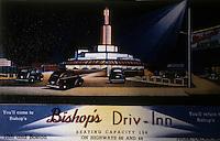 Drive-in's:  Bishop's Driv-Inn, Tulsa Oklahoma 1936. Demolished in 1941.