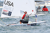 20111214, Perth, Australia: PERTH 2011 ISAF Sailing World Championships - Laser sailor Rob Crane (USA) qualifies for the 2012 Olympics.  Photo: Mick Anderson/SAILINGPIX.DK