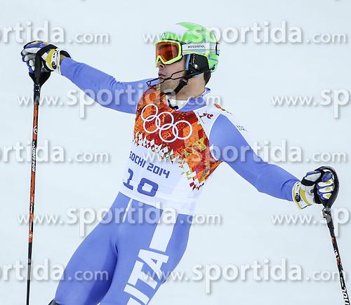 14.02.2014, Rosa Khutor Alpine Center, Krasnaya Polyana, RUS, Sochi, 2014, Super- Kombination, Herren, Slalom, im Bild Christof Innerhofer (ITA) // Christof Innerhofer of Italy during the Slalom of the mens Super Combined of the Olympic Winter Games 'Sochi 2014' at the Rosa Khutor Alpine Center, Krasnaya Polyana, Russia on 2014/02/14. EXPA Pictures &copy; 2014, PhotoCredit: EXPA/ Minkoff<br /> <br /> *****ATTENTION - OUT of GER*****