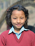 Kabita Chepang, 10, lives in the village of Tanglichowk in the Gorkha District of Nepal. In the aftermath of the April 2015 earthquake that ravaged Nepal, the ACT Alliance helped people in this village with a variety of services, including latrines, emergency shelter, livelihood projects and school construction.  <br /> <br /> Parental consent obtained.