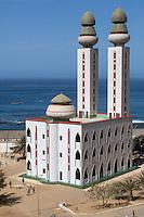Dakar, Senegal.  Mosque de la Divinité (Mosque of the Divinity), in Ouakam, a commune of Dakar.  Completed 1997.