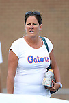 24 August 2012: Florida head coach Becky Burleigh. The University of North Carolina Tar Heels played the University of Florida Gators to a 0-0 overtime tie at Fetzer Field in Chapel Hill, North Carolina in a 2012 NCAA Division I Women's Soccer game.
