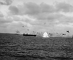 The USS Essex, Yorktown and Belleau Wood battle with Japanese aircraft in the raid on Saipan.