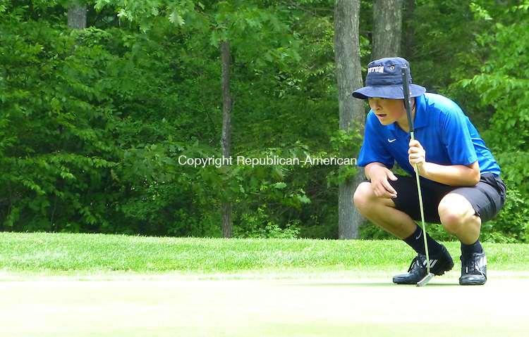 Joe Palladino photo<br /> <br /> Griffin Ylagan shot a 5-over-par 77 at the Berkshire League championship at Fairview Farm Golf Club Tuesday. It was the second straight year that the Shepaug Valley golfer finished second in the BL event by one shot