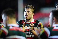 Ed Slater of Leicester Tigers looks on after the match. Aviva Premiership match, between Leicester Tigers and Saracens on January 1, 2017 at Welford Road in Leicester, England. Photo by: Patrick Khachfe / JMP