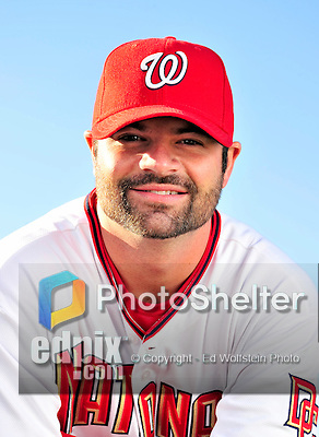 28 February 2010: Washington Nationals relief pitcher Brian Bruney poses for his Spring Training photo at Space Coast Stadium in Viera, Florida. Mandatory Credit: Ed Wolfstein Photo