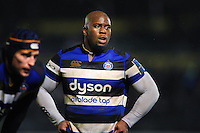 Beno Obano of Bath Rugby looks on during a break in play. Anglo-Welsh Cup match, between Bath Rugby and Gloucester Rugby on January 27, 2017 at the Recreation Ground in Bath, England. Photo by: Patrick Khachfe / Onside Images