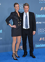 Hugh Grant &amp; Anna Elisabet Eberstein at the 22nd Annual Critics' Choice Awards at Barker Hangar, Santa Monica Airport. <br /> December 11, 2016<br /> Picture: Paul Smith/Featureflash/SilverHub 0208 004 5359/ 07711 972644 Editors@silverhubmedia.com