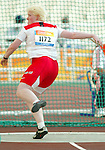 Courtney Knight of Burnaby Bc won the bronze in discus trow today.<br /> (Benoit Pelosse photographe)