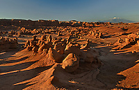 751000005 sunrise lights up the sandstone formations in goblin valley state park utah united states