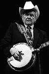 "Ralph Stanley, April 1994, 109-9-16A, Great American Music Hall. American bluegrass artist, known for his distinctive singing and banjo playing. Formed the Stanley Brothers with his brother Carter in 1946 and brought the high lonesome sound of rural southwestern Virginia to the bluegrass world. Stanley won a 2002 Grammy Award in the category of Best Male Country Vocal Performance for his performance of ""Oh, Death"" in the film ""Oh Brother Where Art Thou?"""
