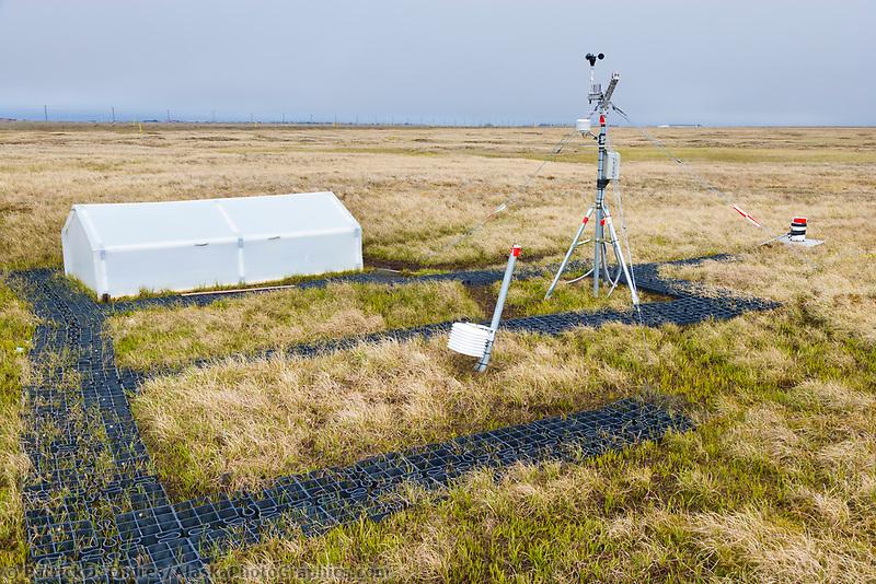 Climate research station in Utqiagvik (Barrow), Alaska.