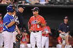 Mississippi head coach Mike Bianco vs. Memphis at Autozone Park in Memphis, Tenn. on Tuesday, April 13, 2010. Memphis won 6-5.