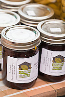 Jars of homemade Coronation grape jelly by Growing Spaces.