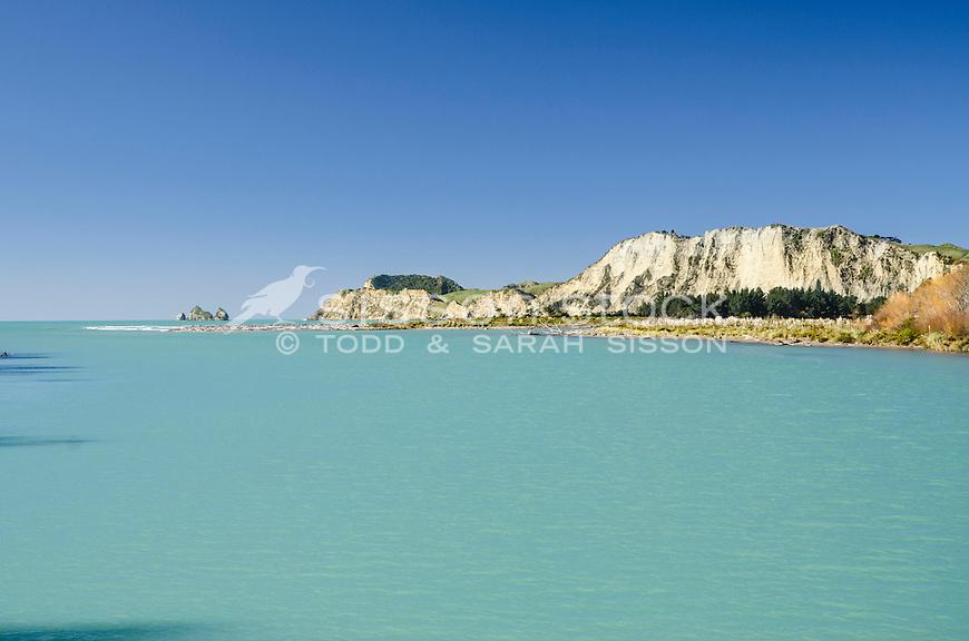 Estuary & Tolaga Bay headland. Eastland North Island New Zealand.
