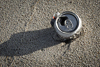 Soda can on the beach