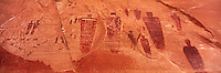 Great Gallery detail, Canyonlands National Park, Utah   Barrier Canyon style pictographs  Ancient paintings over two thousand years old