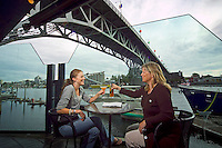 Vancouver, BC, Canada, August 2006. Trendy coctail bar 'Nu' in Yaletown overlooking Granville Island.  Squeezed in between the Rocky Mountains and the Pacific Ocean, Vancouver has a special feel. Photo by Frits Meyst/Adventure4ever.com