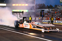 May 31, 2013; Englishtown, NJ, USA: NHRA top fuel dragster driver Clay Millican during qualifying for the Summer Nationals at Raceway Park. Mandatory Credit: Mark J. Rebilas-