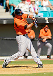 5 March 2006: Brian Bock, catcher for the Baltimore Orioles, at bat during a Spring Training game against the Washington Nationals. The Nationals defeated the Orioles 10-6 at Space Coast Stadium, in Viera Florida...Mandatory Photo Credit: Ed Wolfstein..