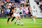 The University of Washington Women's soccer team defeats Santa Clara 2-1 on August 28, 2016 (Photography by Scott Eklund/Red Box Pictures)