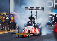 Jul 30, 2016; Sonoma, CA, USA; NHRA top fuel driver Doug Kalitta during qualifying for the Sonoma Nationals at Sonoma Raceway. Mandatory Credit: Mark J. Rebilas-USA TODAY Sports