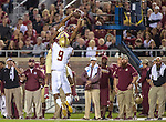 Florida State wide receiver Travis Rudolph catches a pass in the first half of an NCAA college football game against Boston College in Tallahassee, Fla., Friday, Nov. 11, 2016.  Florida State defeated Boston College 45-7.