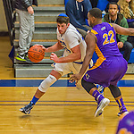 22 November 2015: Yeshiva University Maccabee Forward Shelby Rosenberg, a Senior from Woodmere, NY, drives to the net in the first half of NCAA Men's Basketball play against the Hunter College Hawks at the Max Stern Athletic Center  in New York, NY. The Maccabees defeated the Hawks 81-71 in non-conference play, for their second win of the season. Mandatory Credit: Ed Wolfstein Photo *** RAW (NEF) Image File Available ***