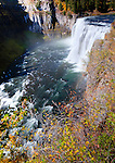 Idaho,East. Upper Mesa Falls on the Henry's Fork of the Snake River.