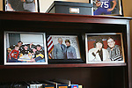 Jackson, Kentucky Mayor Rose Wolfe displays photos of her family and colleagues in her office at Jackson City Hall. Pictures include her family in their Steelers jerseys, her meeting Mitch McConnell and her and her husband. October 14, 2011. Photo by Melanie Hobgood
