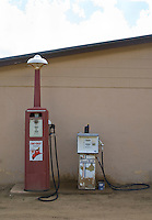 rustic old fashioned gas pumps