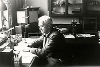 BNPS.co.uk (01202 558833)<br /> Pic: Bonhams/BNPS<br /> <br /> Fleming at work in his laboratory.<br /> <br /> Two samples of mould that legendary scientist Sir Alexander Fleming used to produce penicillin have sold for almost &pound;25,000.<br /> <br /> Both specimens of the yellow-green Penicillium Notatum fungus are contained on a glass disc and date back to the 1930s when Fleming was developing his 1928 discovery of penicillin. <br /> <br /> The samples helped pave the way for the development of antibiotics which people first started to use in 1942 to treat infections which often would prove fatal.<br /> <br /> The treatment has gone on the save millions of lives across the world.