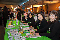 Angie Olmstead, Brenda Ricardo Riccardi, Noellie Sotomayor and Amelia Boyd, staff members of FoodShare's Student Nutrition program at FoodShare Toronto's Recipe for Change, February 28,  2013