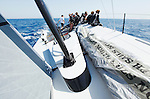 Onboard the TP 52 RAN IV during her first test sail In Palma de  Mallorca, Spain. The  2011 TP52 designed by Judel/Vrolijk and built at Green Marine in Lymington, UK...