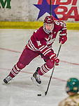 25 November 2014: University of Massachusetts Minutemen Forward Shane Walsh, a Junior from West Roxbury, MA, in action against the University of Vermont Catamounts at Gutterson Fieldhouse in Burlington, Vermont. The Cats defeated the Minutemen 3-1 to sweep the 2-game, home-and-away Hockey East Series. Mandatory Credit: Ed Wolfstein Photo *** RAW (NEF) Image File Available ***
