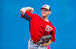 23 February 2013: Washington Nationals pitcher Stephen Strasburg on the mound during a Spring Training Game against the New York Mets at Tradition Field in Port St. Lucie, Florida. The Mets defeated the Nationals 5-3 in their Grapefruit League Opening Day game. Mandatory Credit: Ed Wolfstein Photo *** RAW (NEF) Image File Available ***