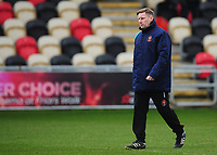 Blackpool's Andy Todd during the pre-match warm-up <br /> <br /> Photographer Kevin Barnes/CameraSport<br /> <br /> The EFL Sky Bet League Two - Saturday 18th March 2017 - Newport County v Blackpool - Rodney Parade - Newport<br /> <br /> World Copyright &copy; 2017 CameraSport. All rights reserved. 43 Linden Ave. Countesthorpe. Leicester. England. LE8 5PG - Tel: +44 (0) 116 277 4147 - admin@camerasport.com - www.camerasport.com