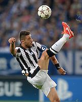 FUSSBALL   CHAMPIONS LEAGUE   SAISON 2013/2014   PLAY-OFF FC Schalke 04 - Paok Saloniki        21.08.2013 Dimitris Salpingidis (Paok) am Ball