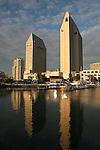 San Diego waterfront in December