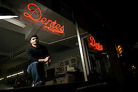 Anthony Dente, of Dente's Barbershop, Somerville, Massachusetts.