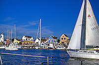 Marina, Del Rey, CA, Sailing, by, Fisherman's, Village, Sunny, Day, Blue, Sky CGI Backgrounds, ,Beautiful Background