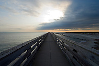 Florida, Fernandina Beach, Pier, Fort Clinch State, Sunrise