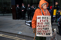 "26.11.2013 - ""Bring Down the Big Six: Fuel Poverty Kills!"" Demonstration"